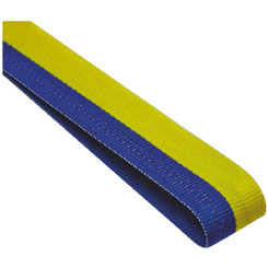 22mm Width Medal Ribbon - Blue/Yellow