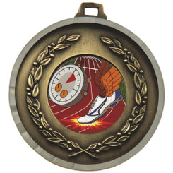 50mm Diamond Edged Medal - Gold