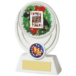 """White Cards Resin Award - 13cm (5"""")"""