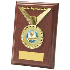 """Rectangular Rosewood Medal Trim Plaques - 13cm (5"""")"""