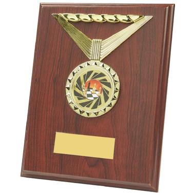 """Rectangular Rosewood Medal Trim Plaques - 23cm (9"""")"""