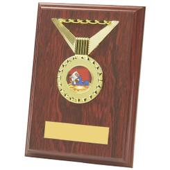 """Rectangular Rosewood Medal Trim Plaques - 15cm (6"""")"""