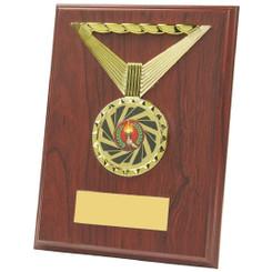 """Rectangular Rosewood Medal Trim Plaques - 20cm (8"""")"""