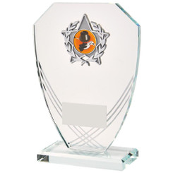"Curved Hexagonal Glass Trim Award - 17.5cm (7"")"