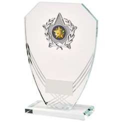 "Curved Hexagonal Glass Trim Award - 19.5cm (7 3/4"")"