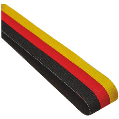22mm Width Medal Ribbon - Black/Red/Gold