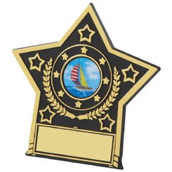 "Black Star Plaque Trophy - 10cm (4"")"