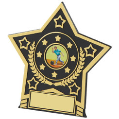 "Black Star Plaque Trophy - 12cm (4 3/4"")"
