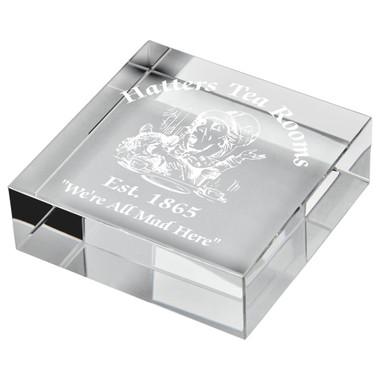 "Crystal Block Paperweight Award - 7.5 x 7.5cm (3"" x 3"")"