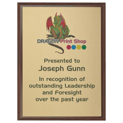 "Wood Plaque Award with Colour Laminate Front - 23 x 18cm (9"" x 7"")"