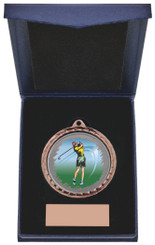 "Golf (F) Insert Medal in Presentation Case - 60cm (23 3/4"") - TW19-171-868C"