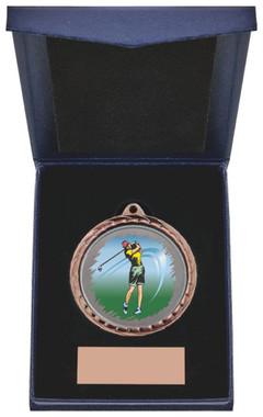 "Golf (F) Insert Medal in Presentation Case - 60cm (23 3/4"") - TW19-171-868B"