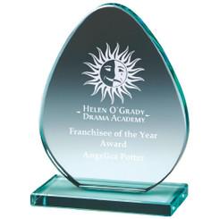 """Jade Glass 'Egg' Award - 14cm (5 1/2"""")"""