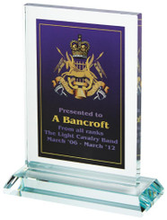 "Crystal Block Award for Colour Printing - 10.5cm (4 1/4"")"