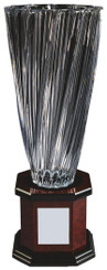 "Bohemia Crystalite Twist Vase Award on Wood Stand - 50cm (19 3/4"")"