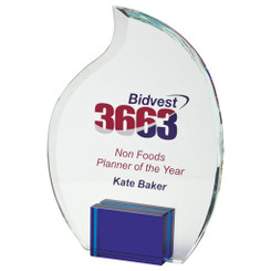 "20cm Crystal Flame Award for Colour Print - 20cm (8"") - TW19-187-T.7235CP-B"