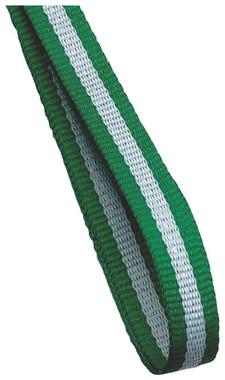 10mm Medal Ribbon - Green/White/Green