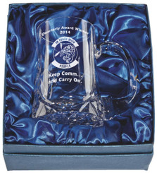 Crystal Tankard in Presentation Case with Panel -