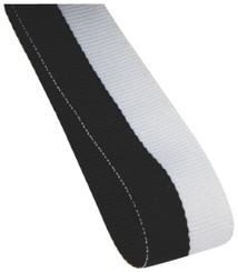 22mm Width Medal Ribbon - Black/White