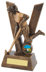 "'V' is for Victory Gold Ladies' Hockey Award - TW18-085-RS507 - 19cm (7 1/2"")"