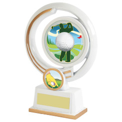 "White Resin Men's Golf Award - 16cm (6 1/4"")"