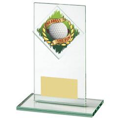 "Jade Glass Nearest the Pin Golf Award - 14cm (5 1/2"")"