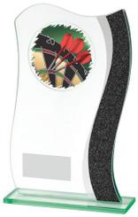 """Jade Glass/Grey Strip Darts Award - TW18-076-784ZAP - 20.5cm (8"""")"""
