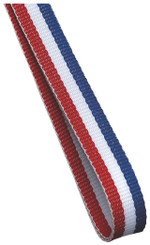10mm Medal Ribbon - Red/White/Blue