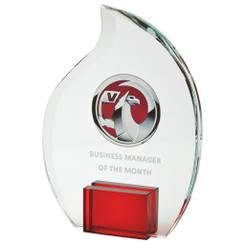 "20cm Crystal Flame Award for Colour Print - 20cm (8"") - TW19-187-T.7235CP-R"