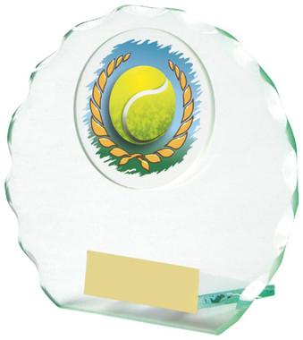 "Jade Glass Tennis Award - TW18-090-436ZDP - 10cm (4"")"