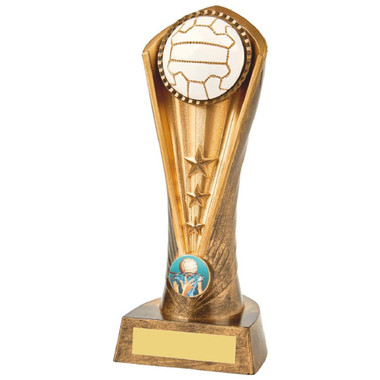Antique Gold Netball Cobra Trophy - 21cm