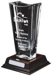 """Large Bohemia Crystalite Vase Award - 30cm (12"""")"""
