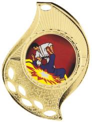Flame Design Medal - Gold
