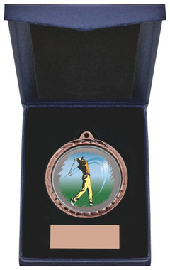 "Golf (M) Insert Medal in Presentation Case - 60cm (23 3/4"") - TW19-171-867B"