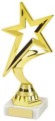"Gold Shooting Star Trophy - TW18-107-452B - 18.5cm (7 1/4"")"