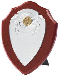 "Chrome Fronted Shield Trophy - TW18-119-170CP - 15cm (6"")"