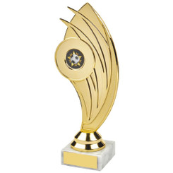 "Gold Swoosh Curve Holder Trophy - 20.5cm (8 1/4"")"
