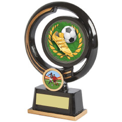 "Black and Gold Circular Football Boot Award - 16cm (6 1/4"")"