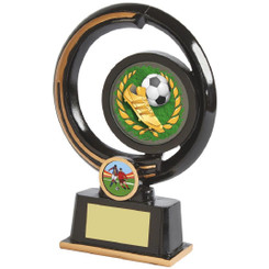 "Black and Gold Circular Football Boot Award - 19cm (7 1/2"")"