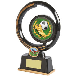 "Black and Gold Circular Football Boot Award - 22cm (8 3/4"")"