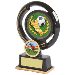 "Black and Gold Circular Football Boot Award - 13cm (5"")"