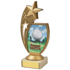 "Colour Longest Drive Star Holder Award - 17cm (6 3/4"")"