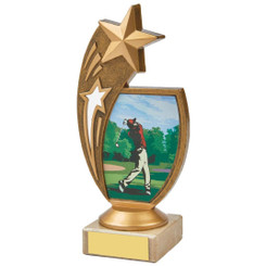 "Colour Male Golf Star Holder Award - 17cm (6 3/4"")"