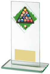 "Jade Glass Upright Award for Pool - 16cm (6 1/4"")"