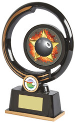 "Stunning Black Resin Pool Awards - 22cm (8 3/4"")"