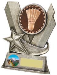 "Badminton Metal Stand Award - 10cm (4"")"