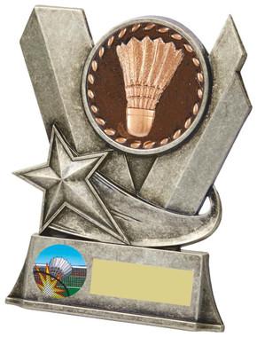 "Badminton Metal Stand Award - 13cm (5"")"