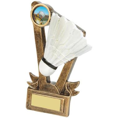"Gold Resin Badminton Shuttlecock Award - 15cm (6"")"