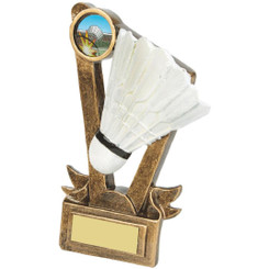 "Gold Resin Badminton Shuttlecock Award - 15cm (6"")"