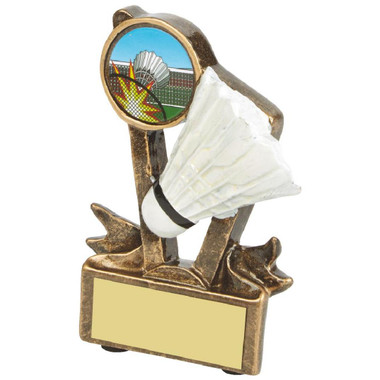 "Gold Resin Badminton Shuttlecock Award - 9cm (3 3/4"")"